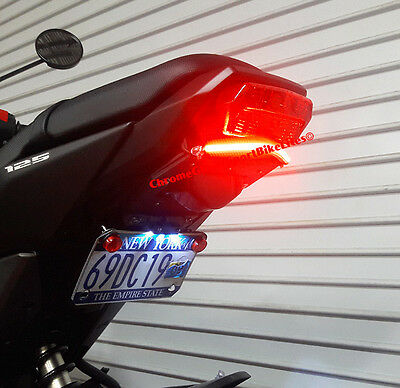 Honda Grom MSX125 (2017+) SS Red LED Light Bar Fender Eliminator; Smoke Lens