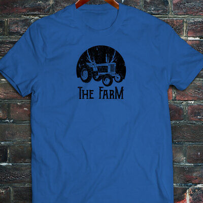 FARMER TRACTOR FARMING AGRICULTURE NATURE CROPS Mens Blue T-Shirt