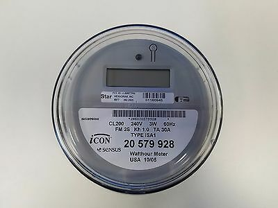 Sensus Watthour Meter (KWH) Icon iSAI 240V FM2S 200 Amps Hexagram Board