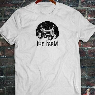 FARMER TRACTOR FARMING AGRICULTURE NATURE CROPS Mens White T-Shirt