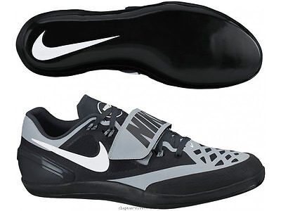 New Nike Zoom Rotational 6 Shot Put Discus Track & Field Shoes Sz 10 Black Grey