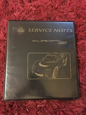 Lotus Europa S Workshop Manual Service Notes Original Genuine Perfect Condition