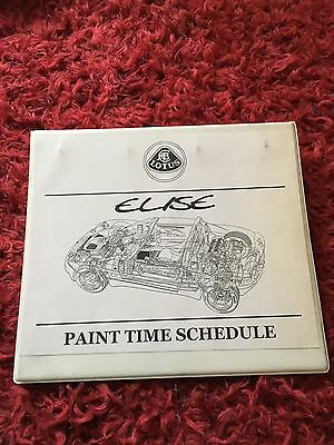LOTUS Elise Paint time Schedule Service Manual Handbook