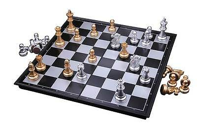 Portable UB 9.7inch Travel Magnetic Chess Set(Black and White)