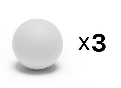 Champion Sports Soft Sponge Safe Indoor Practice Lacrosse Ball, White (3-Pack)