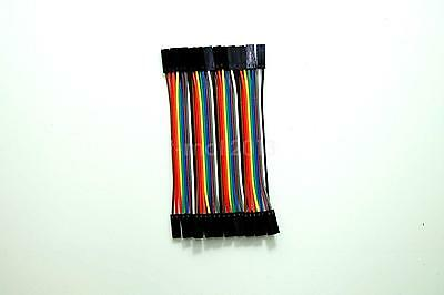 20pcs 2P-2P 10cm Dupont Wire Color Jumper Cable 2.54mm Female-Female For Arduino