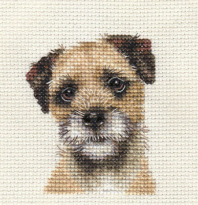 BORDER TERRIER ~ Dog, Puppy, Full cross stitch kit + All materials *Fido Studio