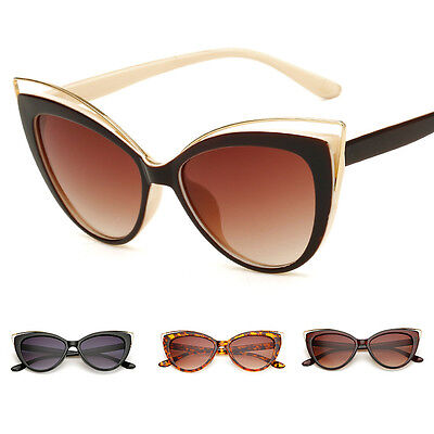 Womens Fashion Vintage Retro Cat Eye UV400 Sunglasses Eyewear Shades Eye Glasses