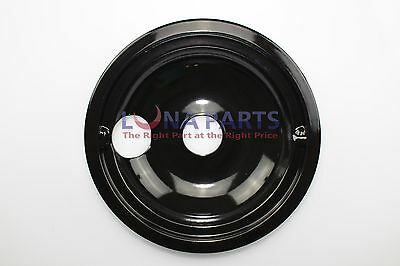 "White Westinghouse Range Stove 8"" Black Porcelain Burner Drip Pan Bowl 318067075"