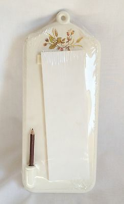 M&S Harvest Notepad and Pencil Holder RARE Shopping List Marks and Spencer - NEW