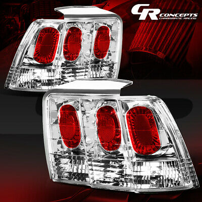 FOR 1994-1998 FORD MUSTANG TAIL LIGHTS DARK RED PAIR LH+RH