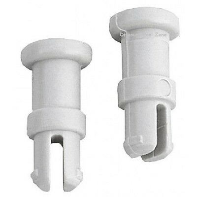 Letro Eu147 Snap Fit Vac Tube Post for Legend Pool Cleaner, White, (Pack of 2)