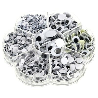 700 Wibbly Wobbly  Googly Eyes. For Art Crafts Stick On Embellishments Stickers