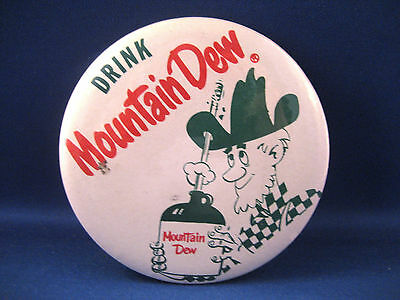 Mountain Dew Pinback Button / Circa 1950-60's