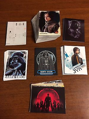 Star Wars Rogue One Series  1 MINI MASTER SET 141 TOTAL CARDS BASE + 6 Inserts