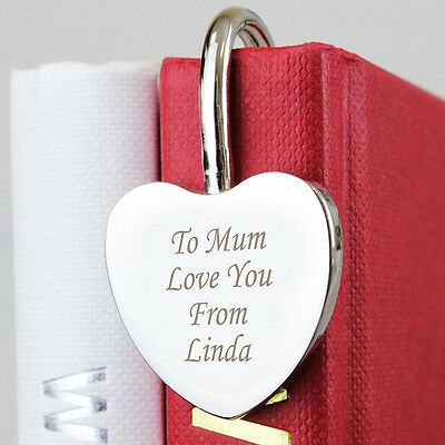 Personalised Silver Heart Bookmark -Free Laser Engraving - Valentines Day Gift