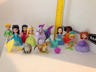 """DISNEY PRINCESS SOFIA THE FIRST FRIENDS 3"""" DOLL LOT Of 12 FIGURES 3 Accessories"""