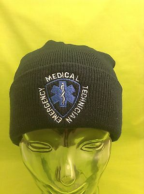 NEW Embroidered Emergency Medical Technician Navy Medical EMT Stocking Cap