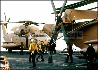 USN RH-53 Sea Stallion Operation Eagle Claw USS Nimitz 1980 5x7 Photo #2