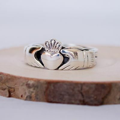 4 piece Sterling Silver Claddagh Puzzle Ring in sizes 6, 7, 8, 9, 10, 11, 12