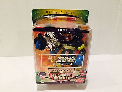 2001 Fisher Price Rescue Heroes Billy Blazes FDNY Special Edition BNIB