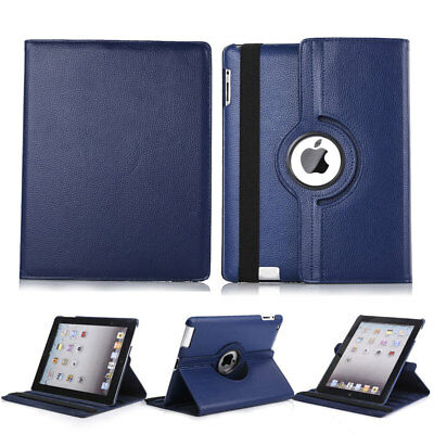 360 Rotating Folio PU Leather Stand Hard Cover Case For Apple iPad Air / Air 2