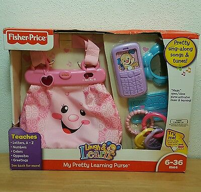 Fisher Price Laugh & Learn My Pretty Learning Pink Purse Rare New In Damaged Box