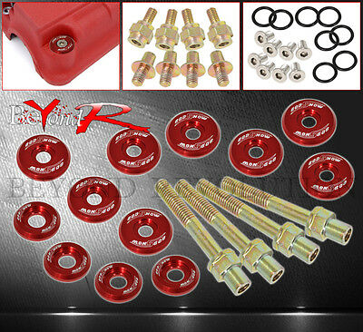 B16 B18 B-Series Valve Cover Washer Seal Bolt Nut Kit Jdm Racing Aluminum Red