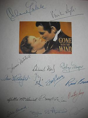 Gone with the Wind Signed Film Script X15 Vivien Leigh Clark Gable Keyes Jory RP