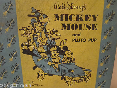 1953 Walt Disney MICKEY MOUSE & PLUTO PUP Mickey Mouse Club GOLDENCRAFT Book