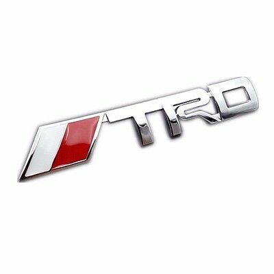 For Toyota TRD emblem badge sticker chrome car trunk decal Camry Corolla VIOS