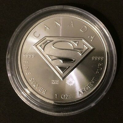 Silver Coin 1once - Superman DC comics 99.99% Uncirculated 1oz