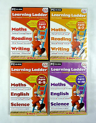 Learning Ladder PC CD-ROM Lot 4 Preschool, Years 1 & 2, Year 4 and Year 5