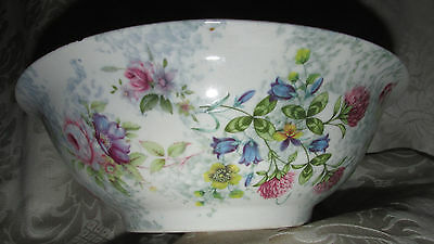 Vintage Style Robert Gordon Bowl Dish Roses Blue Bells French Provincial 25CmW
