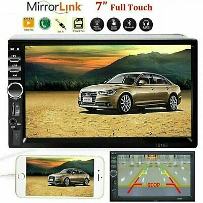 """Car Stereo Radio Audio Receiver Double 2 Din 7"""" Touch Screen + Rear Camera"""