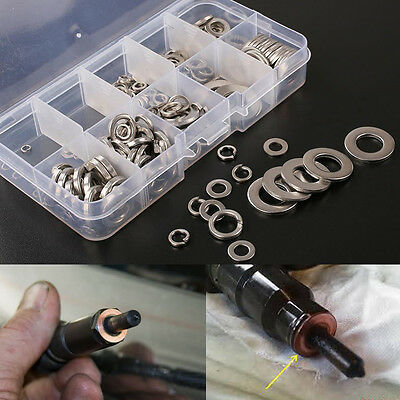 260Pcs Stainless Steel Washer Spring Pad Assortment Tool Set with Box M2.5-M10