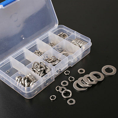 260Pcs Stainless Steel Washer Spring Pad Assortment Hardware Tool Set with Box