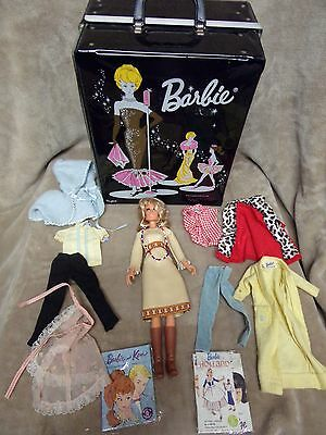 Vintage Farah Fawcett Barbie w/ Clothes & Mattel Ponytail 1962 Case Bundle