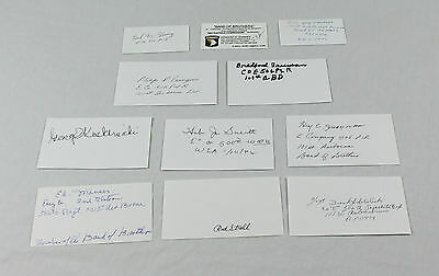 Band of Brothers 101st Airborne Collection of 11 Signed Autographed Cards RARE!