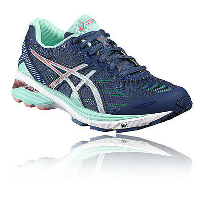 Asics GT 1000 5 Womens Blue Support Running Sports Shoes Trainers Pumps