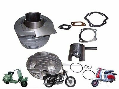 NEW LAMBRETTA 185 cc SCOOTS SMALL BLOCK PERFORMANCE ALLOY CYLINDER KIT @AUD