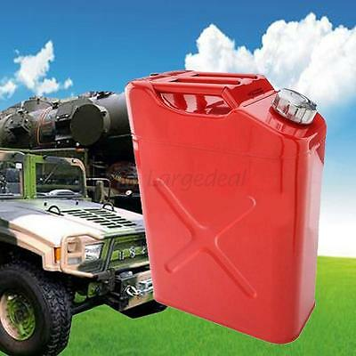 New 5 Gallon Jerry Can Gas Fuel Steel Tank Fuel Gas Gasoline RED 20L Storage EU