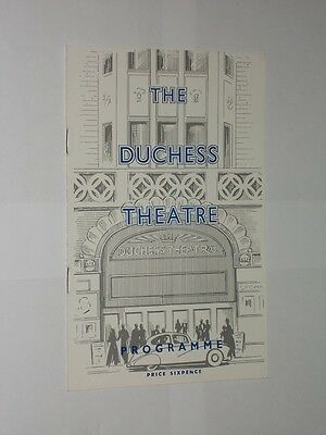 The Duchess Theatre Programme 1958. The Unexpected Guest By Agatha Christie.