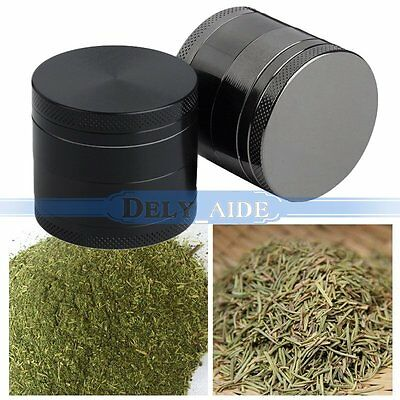 40mm 4 Layers Metal Tobacco Crusher Hand Muller Smoke Herbal Herb Grinder【UK】
