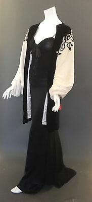 VNTGE 1920's-30'sOpera/Evening Coat/Jacket_Velvet_Floral Embroidery_36_38_40-42