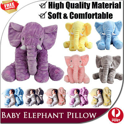 Baby Sleeping Elephant Pillow Stuffed Animal Cushion Kid Soft Toy Plush Cute