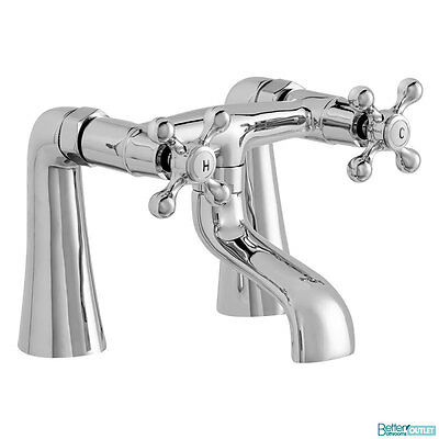 Bath Filler Chrome Solid Brass Bathroom Traditional Hot & Cold