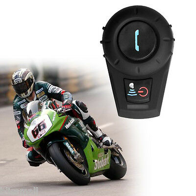 500M Interphone BT Bluetooth Motorbike Motorcycle Helmet Intercom Headset MIC UK