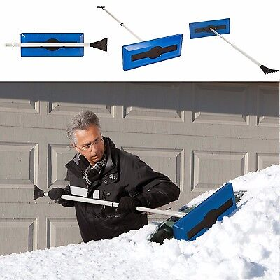 Ice Scraper Snow Broom For Cars Telescoping Handle Brush Tackle Vehicle Cleaning