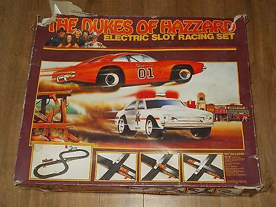 Vintage The Dukes Of Hazzard Electric Slot Car Racing Set From 1981 By Ideal Box